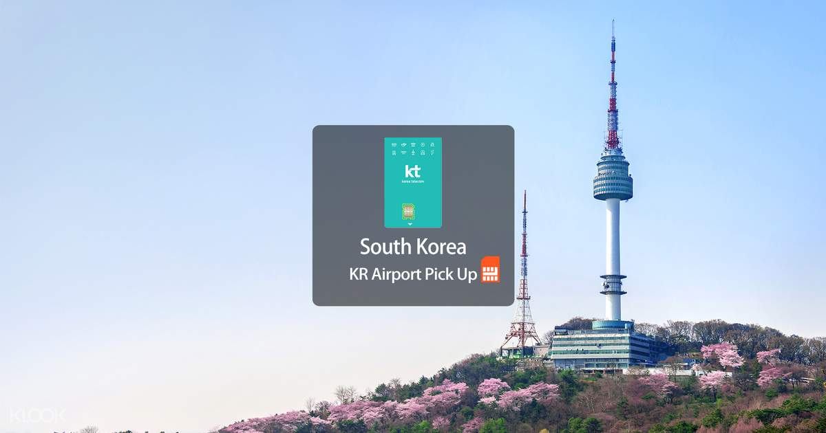 4G SIM Card (KR Airport Pick Up) for Korea - Klook